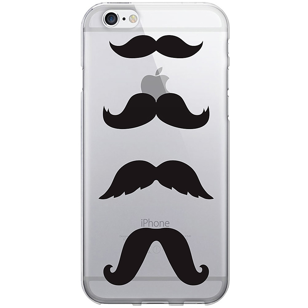 Centon Electronics OTM Clear iPhone 6 Case Hipster Prints Mustache Centon Electronics Electronic Cases