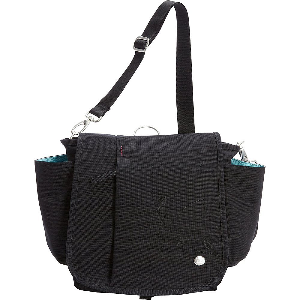 Haiku To Go Convertible Messenger Black Haiku Fabric Handbags
