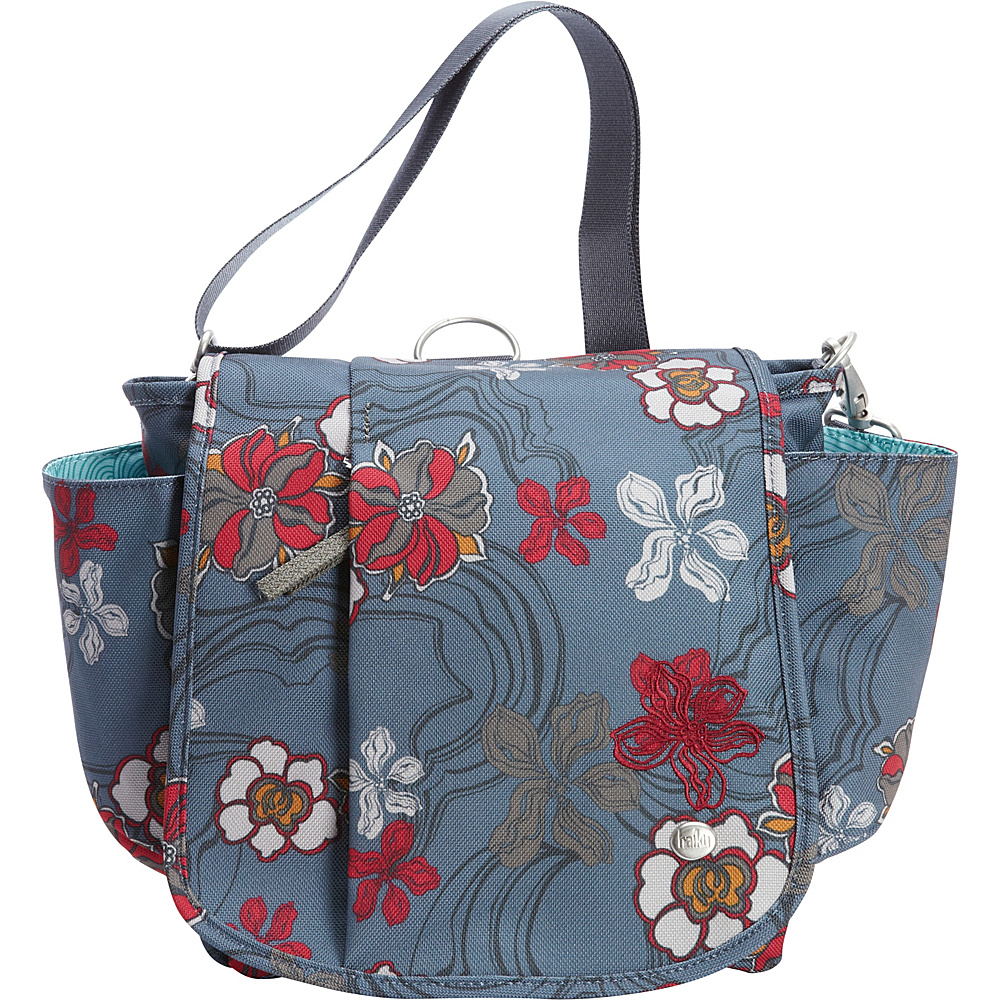 Haiku To Go Convertible Messenger River Floral Print Haiku Fabric Handbags