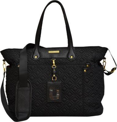 Adrienne Vittadini Quilted East/West Tote Black - Adrienne Vittadini Fabric Handbags