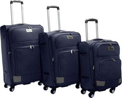 Chariot Genoa 3Pc Luggage Set Navy/Grey - Chariot Luggage Sets
