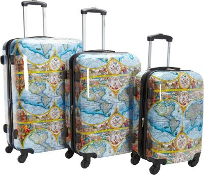 Chariot One World 3Pc Luggage Set Color - Chariot Luggage Sets