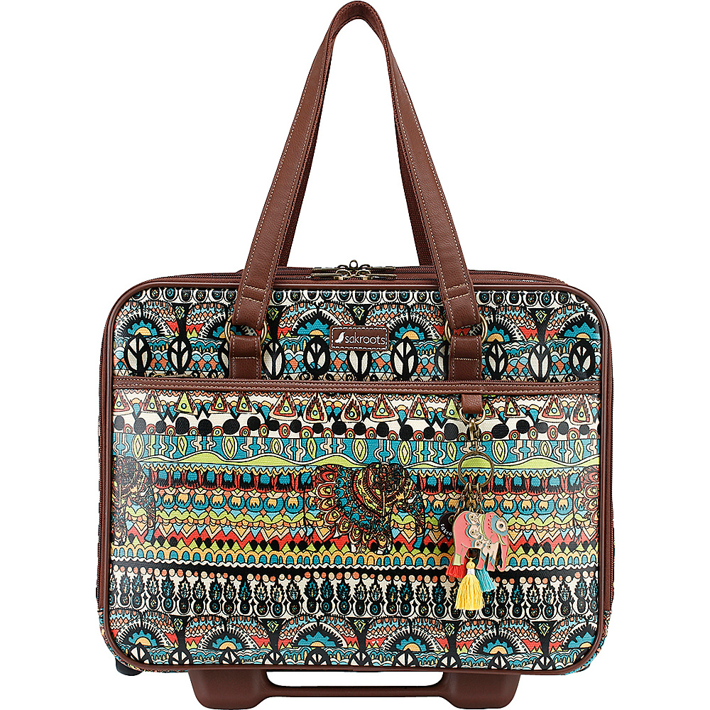 Sakroots Artist Circle Mobile Tote Natural One World - Sakroots Luggage Totes and Satchels - Luggage, Luggage Totes and Satchels