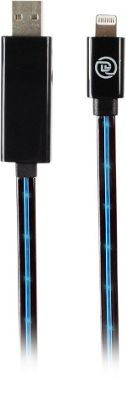 Digital Treasures MFI Lightning Cable with Flow-Effect LEDs Blue - Digital Treasures Electronic Accessories