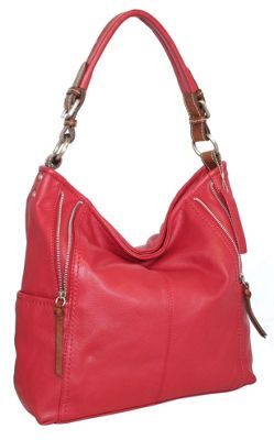 Nino Bossi Bucket List Shoulder Bag Red - Nino Bossi Leather Handbags