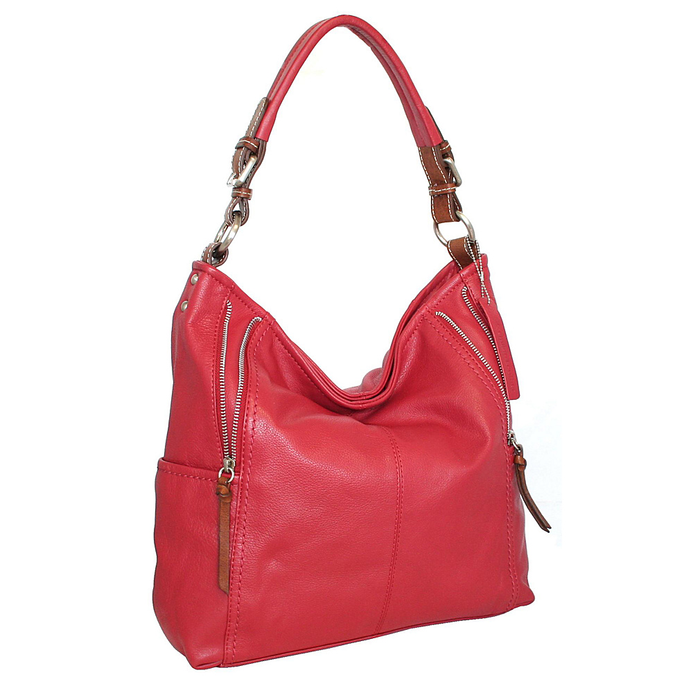 Nino Bossi Bucket List Shoulder Bag Red Nino Bossi Leather Handbags