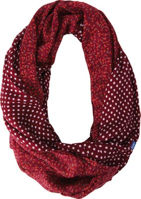 Keds Reversible Printed Infinity Scarf Beet Red - Keds Hats/Gloves/Scarves