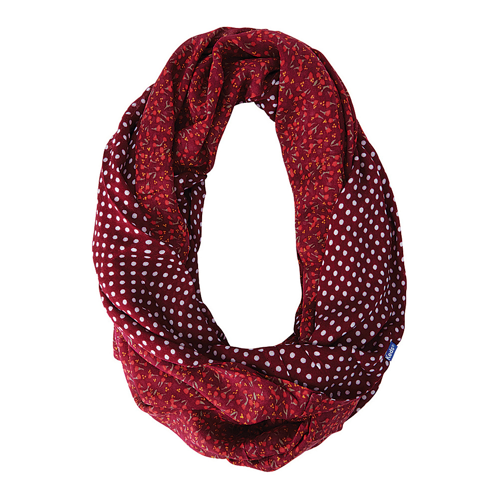 Keds Reversible Printed Infinity Scarf Beet Red Keds Hats Gloves Scarves