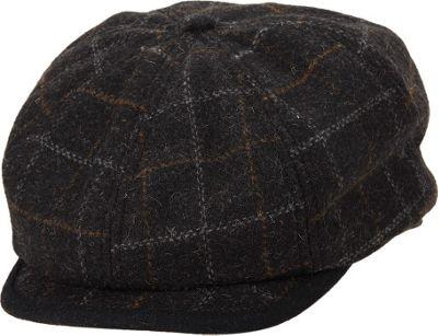 Ben Sherman Window Pane Wool Blend Gatsby Hat S/M - Charcoal - Ben Sherman Hats/Gloves/Scarves