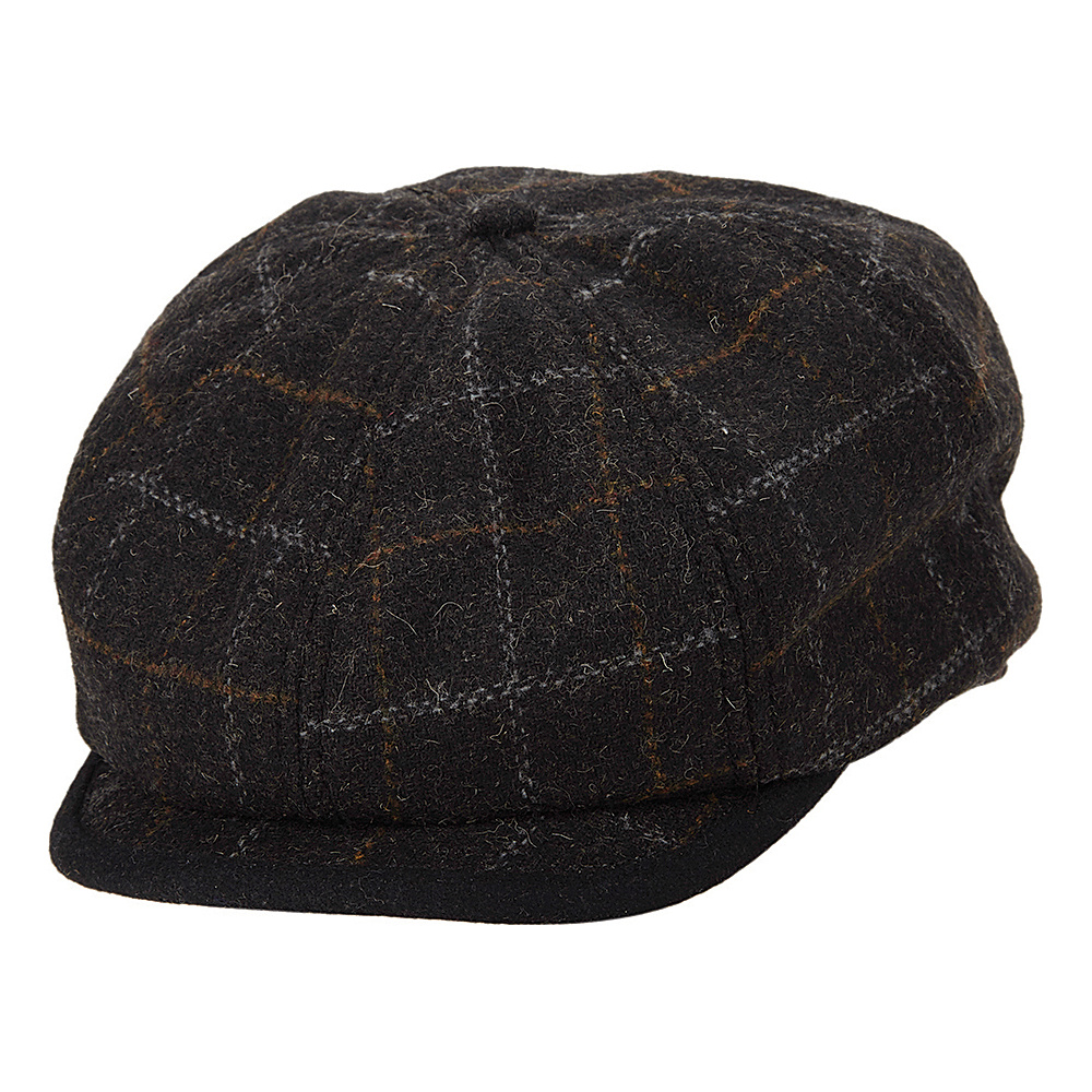 Ben Sherman Window Pane Wool Blend Gatsby Hat Charcoal Small Medium Ben Sherman Hats Gloves Scarves