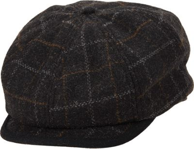 Ben Sherman Window Pane Wool Blend Gatsby Hat L/XL - Charcoal - Ben Sherman Hats/Gloves/Scarves