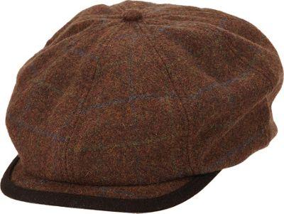 Ben Sherman Window Pane Wool Blend Gatsby Hat S/M - Coffee - Ben Sherman Hats/Gloves/Scarves