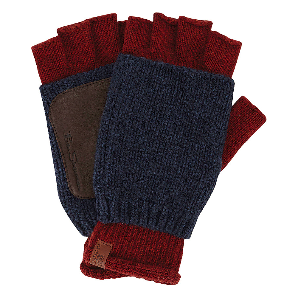Ben Sherman Double Layer Knit Fingerless Gloves One Size - Champagne - Ben Sherman Hats/Gloves/Scarves