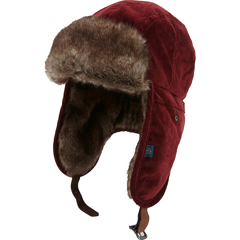 Original Penguin Jimmy Van Trapper Hat Red Large Extra large Original Penguin Hats Gloves Scarves