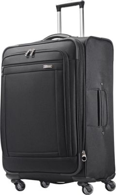 American Tourister Triumph 25 inch Spinner Black - American Tourister Softside Checked