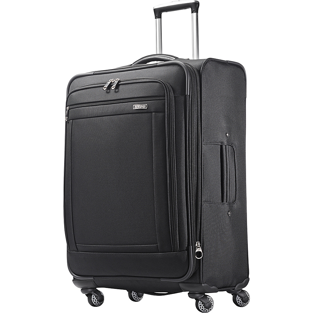 "American Tourister Triumph 25"" Spinner Black - American Tourister Softside Checked"
