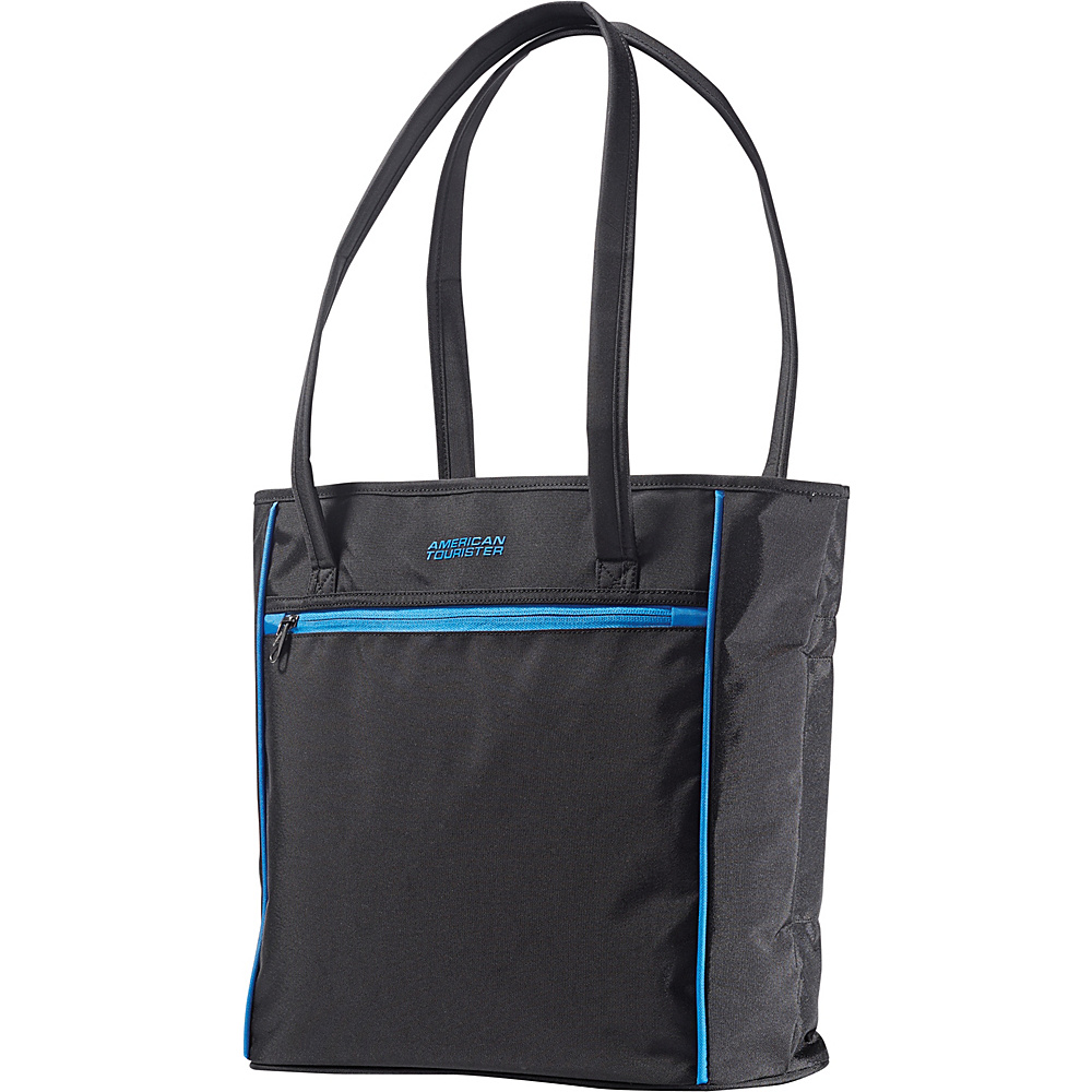 American Tourister Skylite Shopper Black/Blue - American Tourister Luggage Totes and Satchels