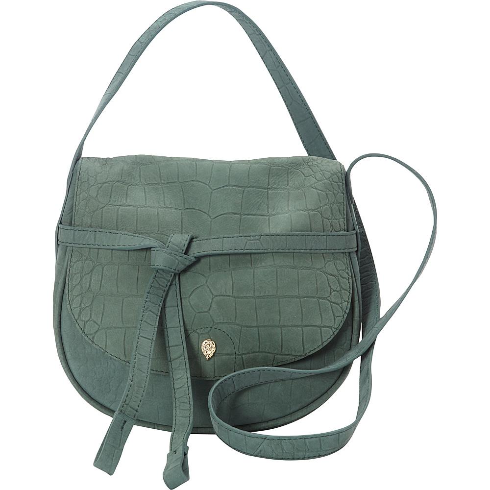 Helen Kaminski Avelon Croc Crossbody Evergreen - Helen Kaminski Designer Handbags