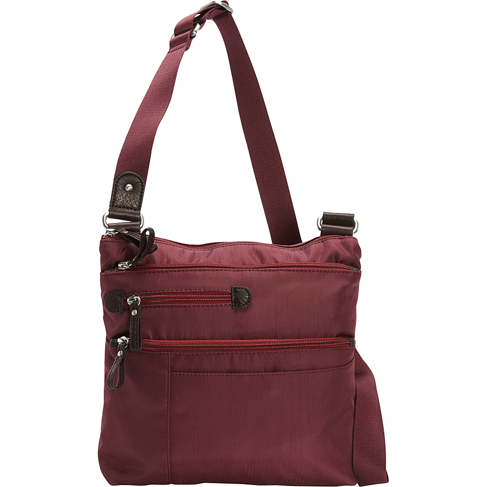 Osgoode Marley Large Crossbody Cranberry Osgoode Marley Fabric Handbags