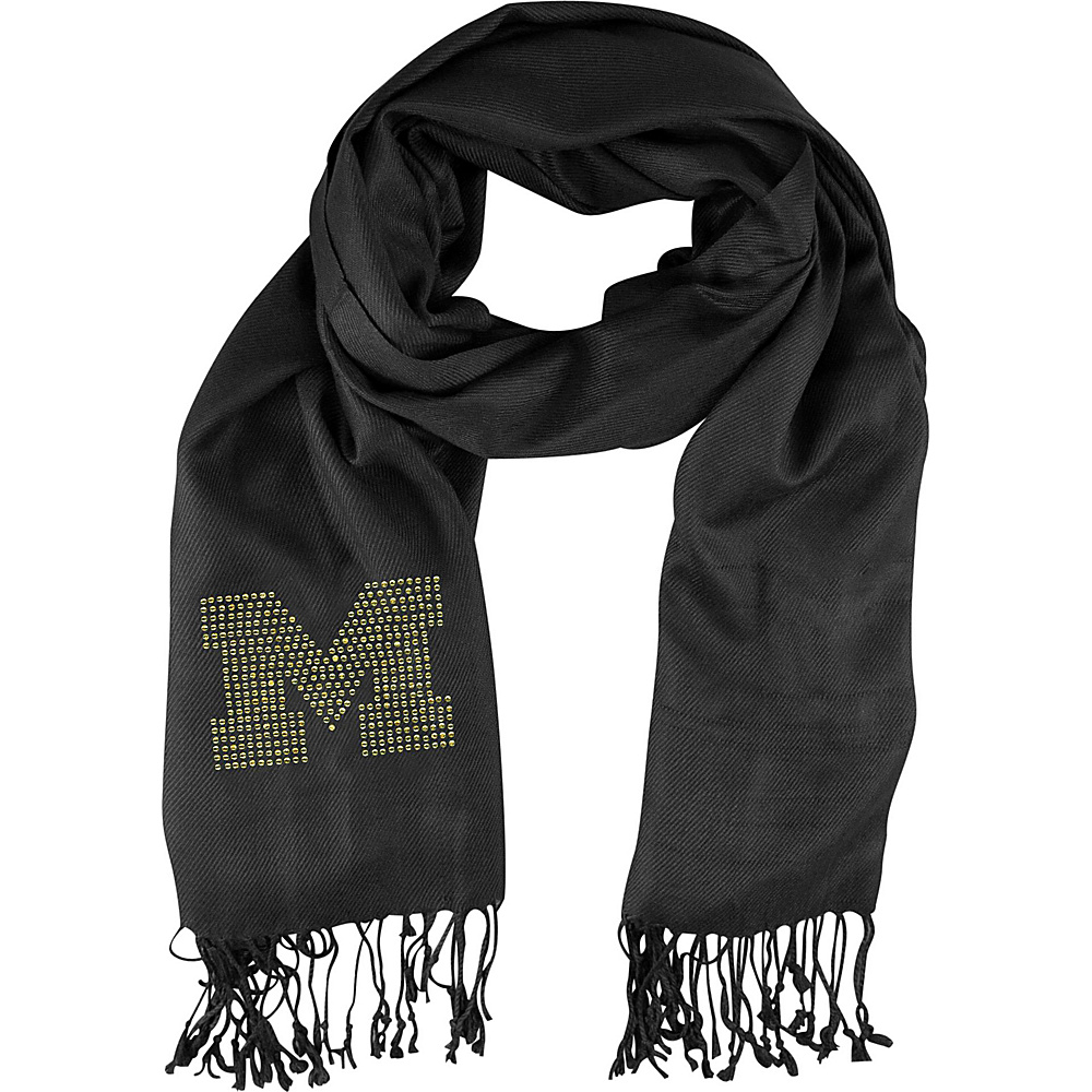 Littlearth Pashi Fan Scarf - Big 10 Teams Michigan, U - Littlearth Hats/Gloves/Scarves - Fashion Accessories, Hats/Gloves/Scarves
