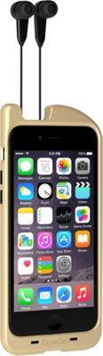 Digital Treasures TurtleCell Retractable Headphone Case for iPhone 6 Gold - Digital Treasures Electronic Cases