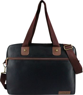 Jacki Design Men's Business Laptop Bag Black/Brown - Jacki Design Non-Wheeled Business Cases