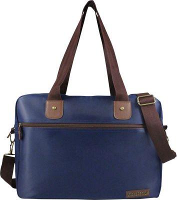 Jacki Design Men's Business Laptop Bag Blue/Brown - Jacki Design Non-Wheeled Business Cases