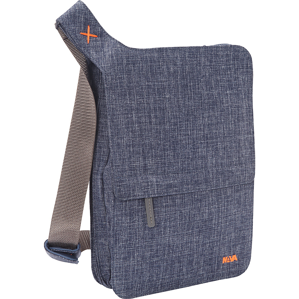 Nava Bellows, iPad Messenger Blue Denim - Nava Slings