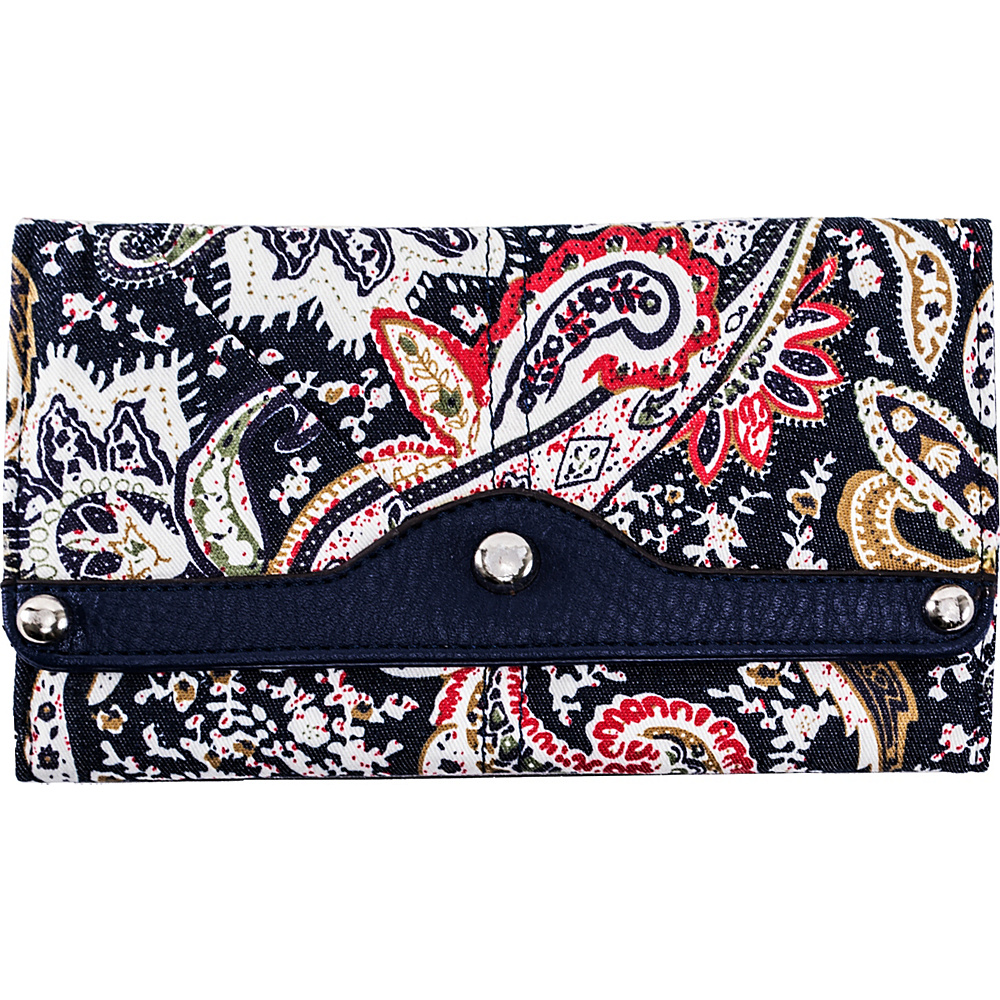 Parinda Madaline Wallet Navy Paisley Parinda Women s Wallets