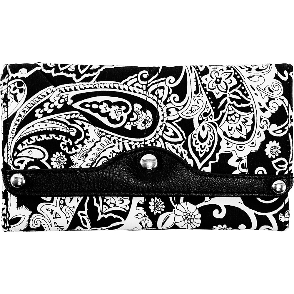 Parinda Madaline Wallet Black Paisley - Parinda Ladies Small Wallets