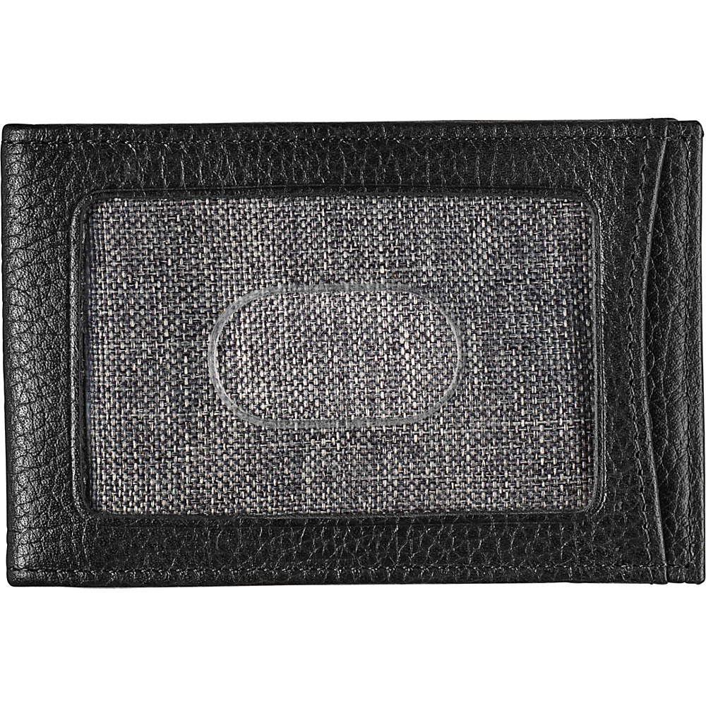 Johnston & Murphy Twofold Money Clip Black - Johnston & Murphy Mens Wallets