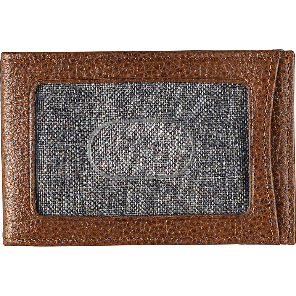 Johnston & Murphy Twofold Money Clip Tan - Johnston & Murphy Mens Wallets