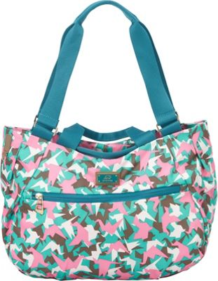 Promax Chi Chi 2 Way Convertible Tote Green Bird - Promax Fabric Handbags