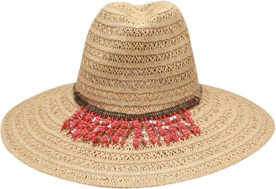 Ale by Alessandra Garapoba Hat One Size - Natural/coral - Ale by Alessandra Hats/Gloves/Scarves