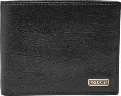 Fossil Omega Flip ID Bifold Black - Fossil Mens Wallets