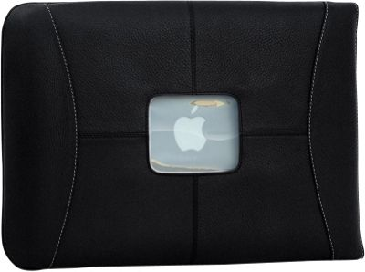 MacCase Premium Leather 12 inch MacBook Sleeve Black - MacCase Electronic Cases