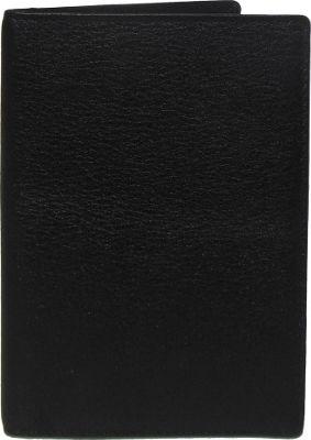 Boconi Grant RFID Passport Case Black Leather with Gray - Boconi Men's Wallets