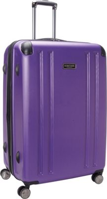 Heritage O'Hare 29 inch Expandable Checked 8 Wheel Spinner Purple - Heritage Hardside Checked