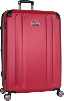 Heritage O'Hare 29 inch Expandable Checked 8 Wheel Spinner Barn Red - Heritage Hardside Checked