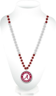 Luggage Spotters NCAA Alabama Sports Beads With Medallion Burgundy - Luggage Spotters Jewelry