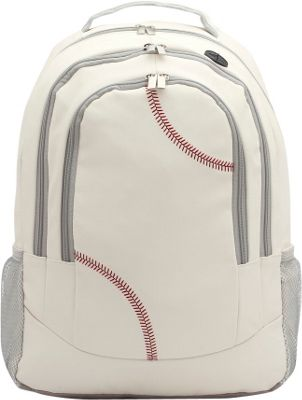 Zumer Baseball Backpack Baseball white - Zumer Everyday Backpacks