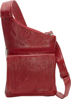 Ropin West Crossover Sling Red - Ropin West Leather Handbags