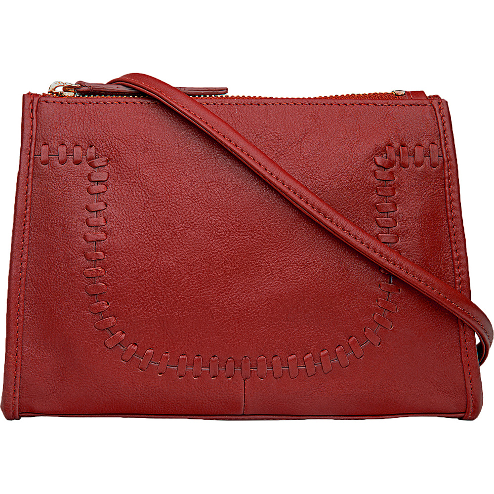 Hidesign Mina Leather Cross body Red Hidesign Leather Handbags