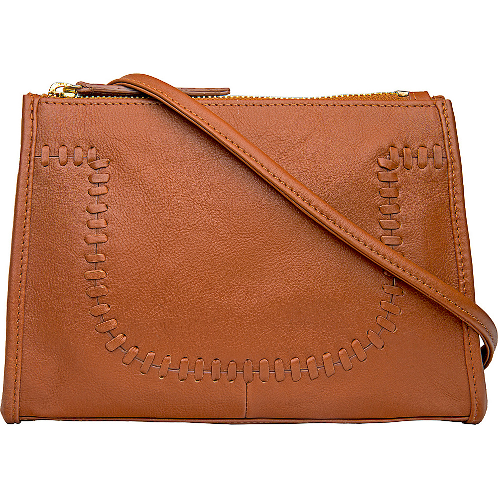 Hidesign Mina Leather Cross body Tan Hidesign Leather Handbags