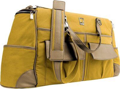 Lencca Alpaque Duffel Carry-on Traveler's Bag Mustard Yellow / Cool Camel - Lencca Travel Duffels