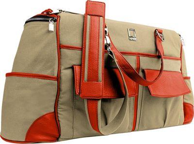 Lencca Alpaque Duffel Carry-on Traveler's Bag Raw Beige / Orange - Lencca Travel Duffels