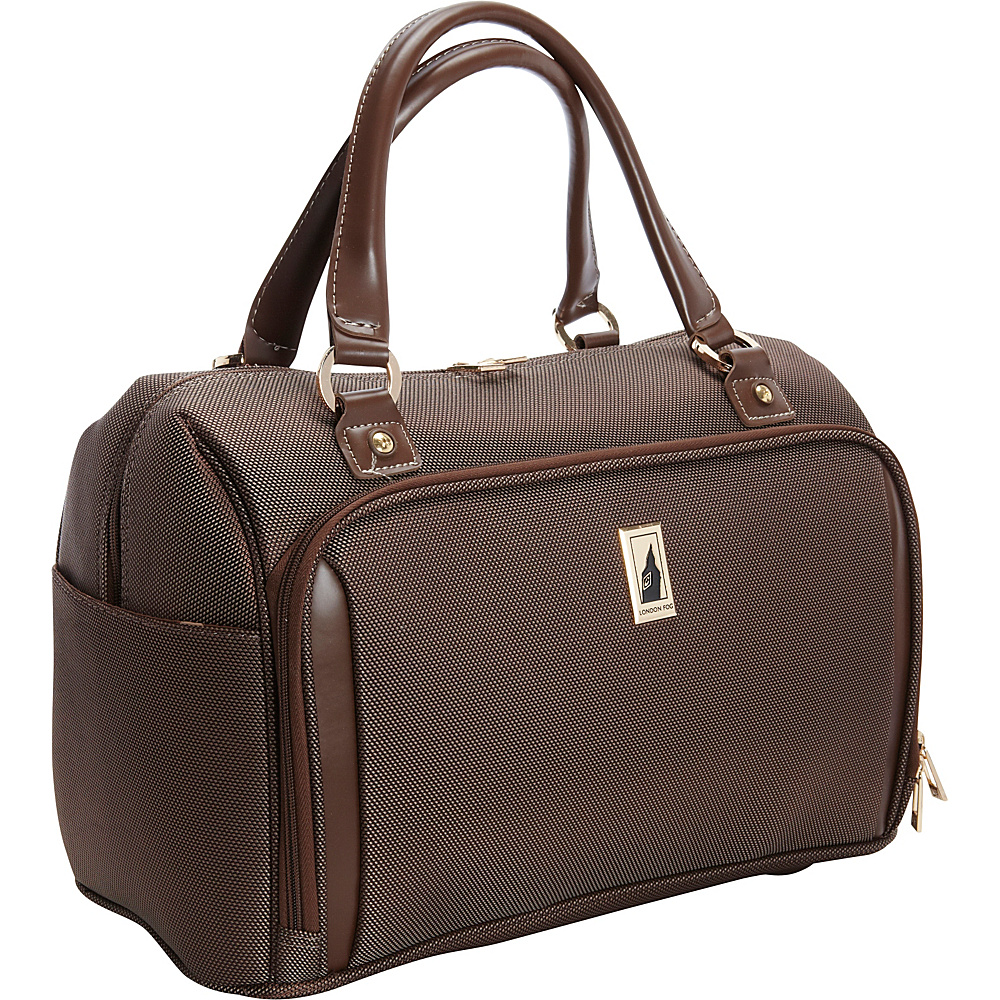 "London Fog Kensington 17"" Deluxe Cabin Bag Bronze - London Fog Softside Carry-On"