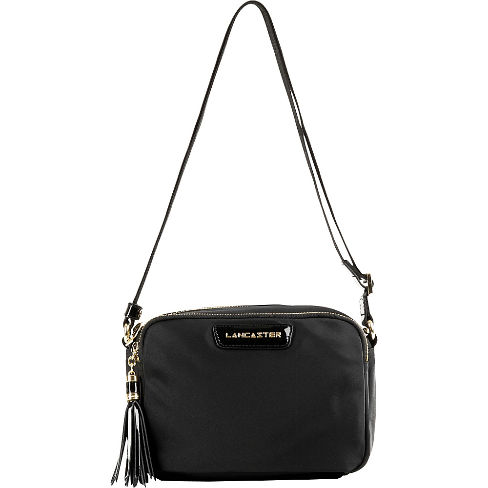 Lancaster Paris Nylon Patent Simple Crossbody Black Lancaster Paris Fabric Handbags
