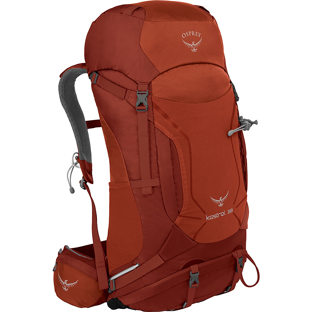 Osprey Kestrel 38 Hiking Backpack Dragon Red - M/L - Osprey Backpacking Packs - Outdoor, Backpacking Packs