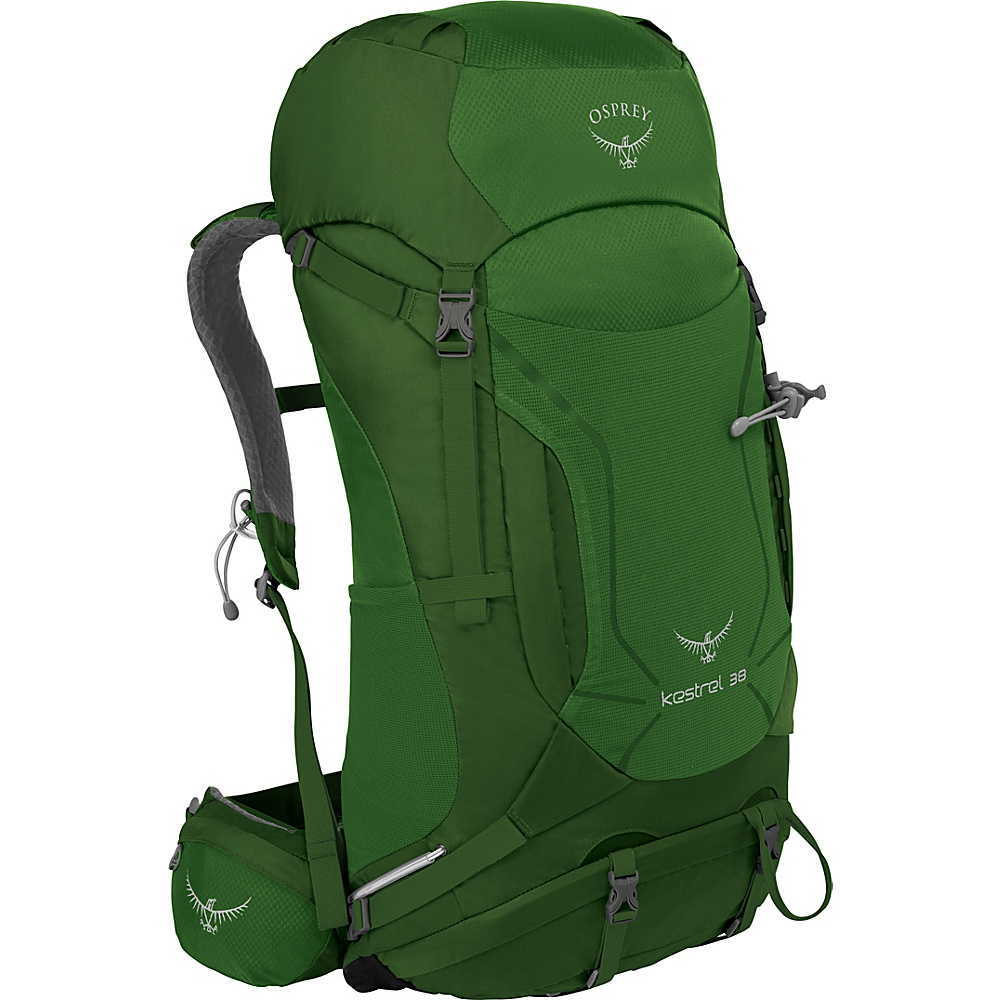Osprey Kestrel 38 Hiking Backpack Jungle Green - M/L - Osprey Backpacking Packs - Outdoor, Backpacking Packs